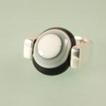 """Ring 925 Silber """"wide eckig"""""""